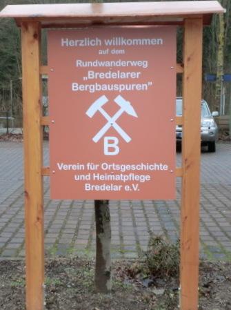 Startpunkt Bergbauwanderweg Bredelar